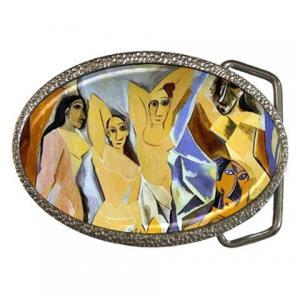 Pablo Picasso The Ladies of Avignon Fine Art Painting Cubism Belt Buckle 14516969 Made to Order Custom Design Available